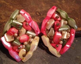 Vintage JAPAN Clip Earrings
