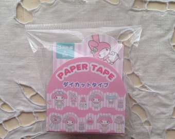 SALE SALE NEW die cut Japanese masking tape sanrio My Melody 15mm