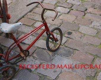 Listing for registered mail upgrade
