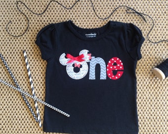 Minnie Mouse Birthday Shirt One 1st First