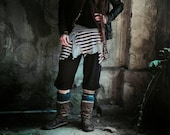 tattered pixie gypsy pirate ~ circus skirt ~ stripy size s unique