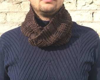 Knitting Pattern Guy : Mens scarf pattern Etsy