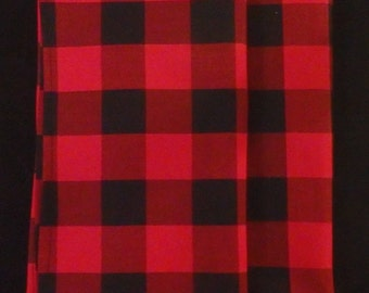 Red U0026 Black Table Linens, Buffalo Plaid Cotton, Table Runner, Table Topper,