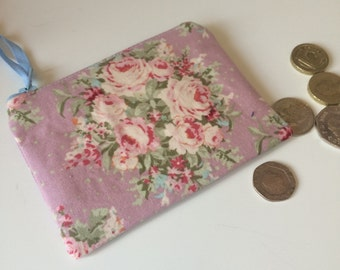 coin purse Tilda fabric roses