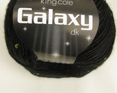 Special offer half price King Cole Galaxy DK Light Worsted Shade 733 Pluto black