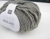 Sale Rico Highland chunky 007 light grey knitting yarn
