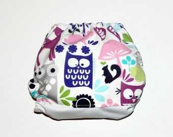 One Size Pocket Cloth Diaper It's Owl Good, Reusable Cloth Diaper, One Size Cloth Nappy