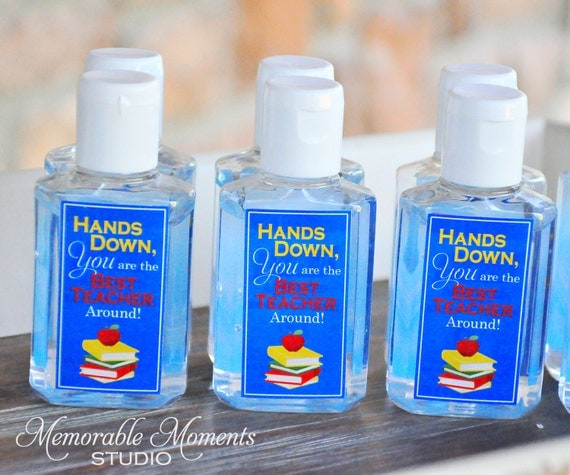 Instant Download Printable Hand Sanitizer Labels Hands Down