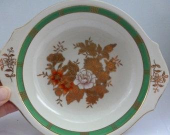 Antique Noritake Bowl Stunning Noritake Hand Painted Bowl with Gold Leaf Pattern