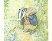 Beatrix Potter - MR.TOD Book Plate 19