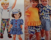 1992 Toddler Pants ~ Shorts ~ Tops & Hat Pattern Simplicity 7729 Toddler 1/2-1-2. TODDLER SUMMERWEAR COLLECTION Pattern at WhiletheCatNaps