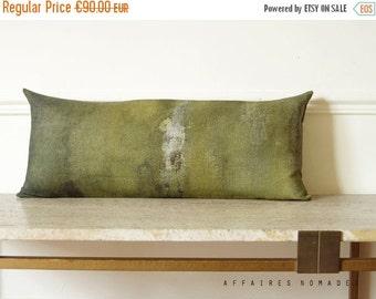 ON SALE Khaki lumbar pillow case. Linen long pillow. Bring nature in, ... On the stump /  FRAGMENTS. Natural decor