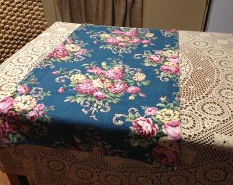 Beautiful Blue Flowered Back Cloth Fabric