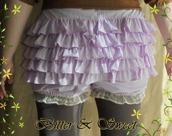 Pastel violet short bloomers xs-s-m-l-xl-xxl-Lolita-Steampunk-1940 USO-Wester-Old West-Saloon Girls-Victorian Pants- Bitter&Sweet-
