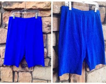 90s Electric Blue Spandex Bike Shorts