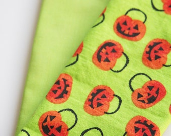 Pumpkin Lunchbox Napkins - Set of 2 - Choose from Green or Black