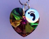 Rainbow Baby - Necklace - Rainbow Jewelry - Baby After Miscarrige Gift - Miracle Baby - Miscarrige gift - Miscarry Jewelry