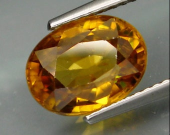 Large Golden Yellow Zircon, Loose Gemstone, Faceted Oval, 4.56 Carat 10 x 8 MM, Natural Gemstone For Jewelry Making