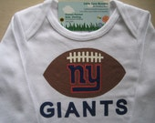 New York Giants Onesie,NFL Football  Onesie, Personalized Baby Boy Onesie, Boy's Baby Shower Gift, Daddy's Football Fan