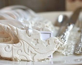 Wholesale Favors Dove Salt Dough Ornaments Set of 10 Baptism or Wedding Napkin Ring Ornaments