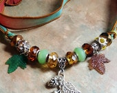 Lovely Autumn Silk Ribbon Necklace