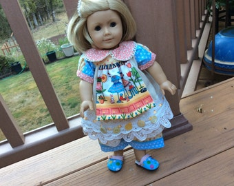 American Girl, Waldorf doll clothes....shabby chic, layered lace, old buttons