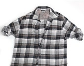 SALE - Black and Brown Flannel - Size S-XL