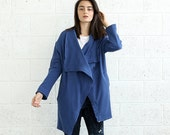 Valentines day SALE!French Terry coat, Blue.