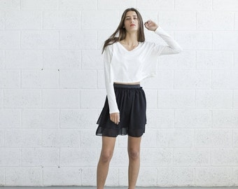 Valentines day Black Sheer Mini Skirt