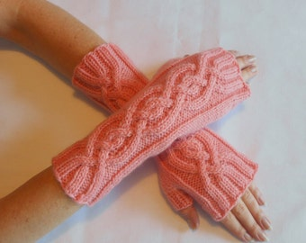 Cabled Fingerless Gloves/Mitts