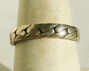 Sterling Silver Band Ring-Size 7 3/4
