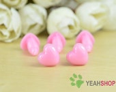 10mmx9mm Heart Safety Nose / Plastic Nose - 10 PCS - Pink / Orange / Red / Deep Red / Purple