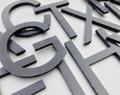 A-Z - Reclaimed metal letters - variety - your choice - black metal