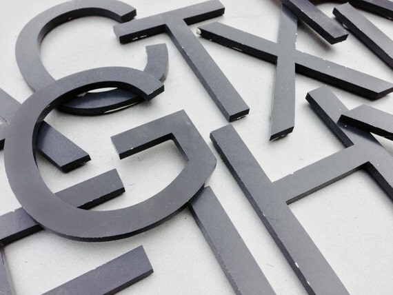 Reclaimed Metal Letters Prepossessing Az Reclaimed Metal Letters Variety Your Choice Black Decorating Inspiration