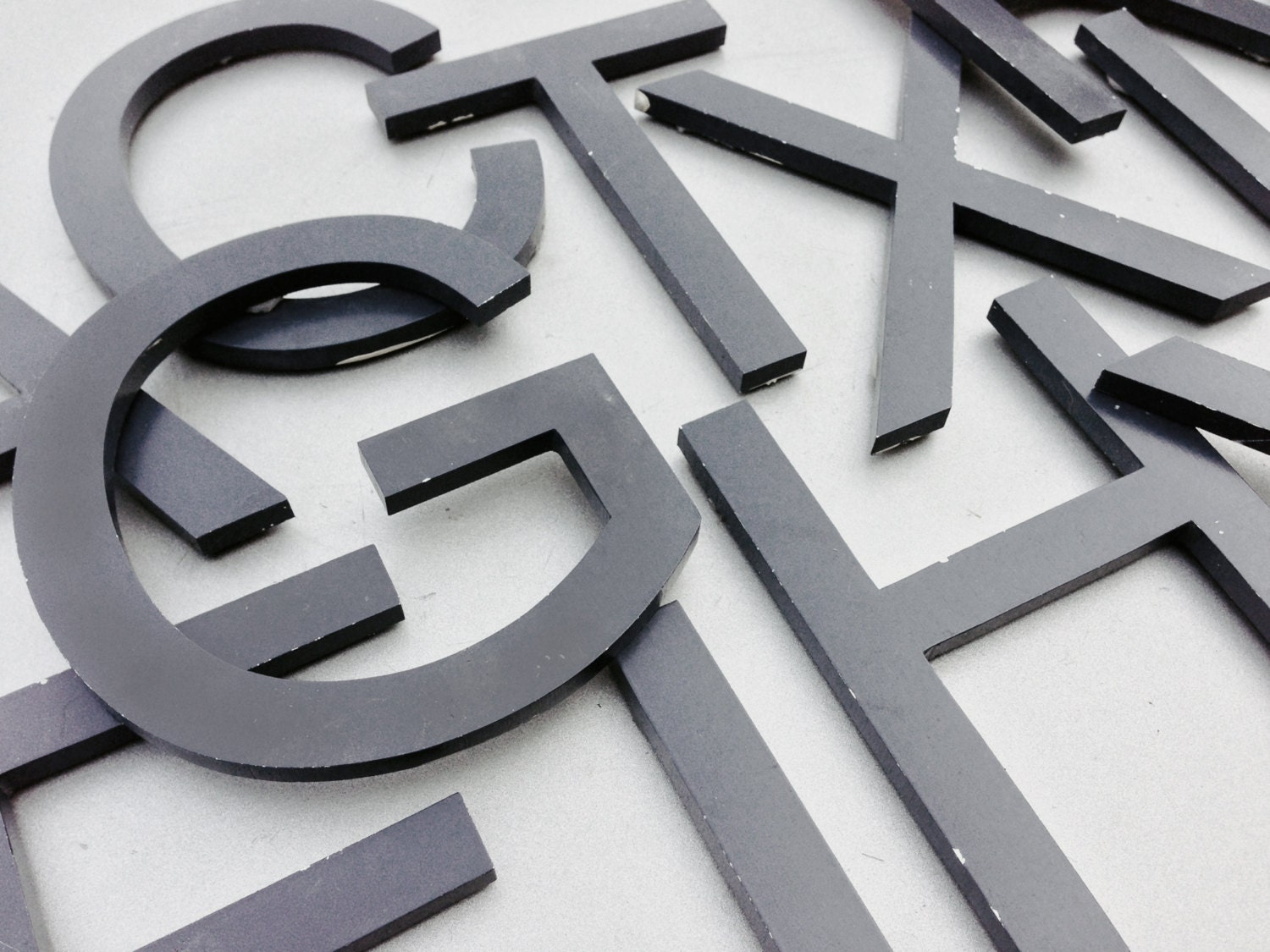 a z reclaimed metal letters variety your choice black With reclaimed metal letters