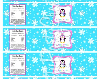 GIRL PENGUIN water labels - You Print