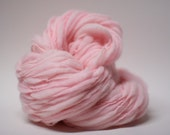 Yarn Thick and Thin Merino Handspun Wool Slub Hand Dyed tts(tm) Merino Bulky Blush Pink 04