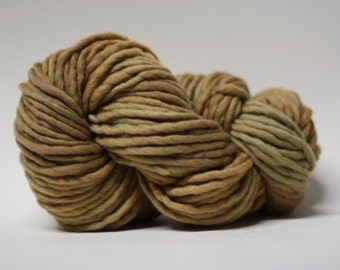 Single Ply Yarn Merino Slub Hand Dyed 44sp15014 Twig