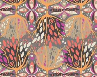 Affinity Celebration in Coral, Jessica Swift, Blend Fabrics, 100% Cotton Fabric, 111.107.01.1