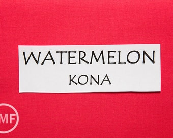 One Yard Watermelon Kona Cotton Solid Fabric from Robert Kaufman, K001-1384