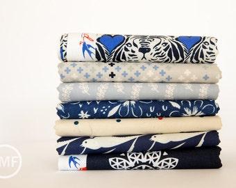 Bluebird Half Yard Mini Bundle, 7 Pieces, Collaborative Collection, Cotton+Steel, RJR Fabrics, 100% Cotton Fabric