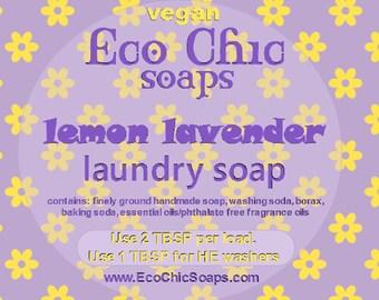 Lemon Lavender laundry soap - Natural laundry soap w/Lemon Lavender Fragrance - Vegan laundry soap