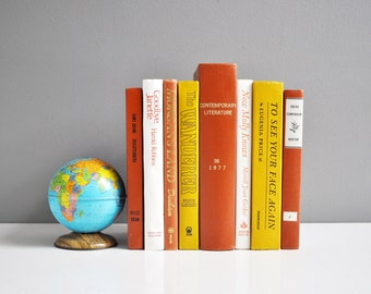 Vintage Orange, Yellow, and White Book Collection