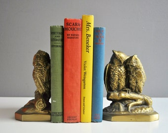 Philadelphia Manufacturing Company Brass Owl Bookends