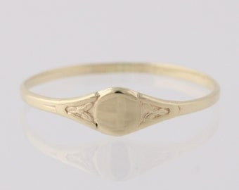 Engravable Gold Ring - 10k Yellow Gold Fine Jewelry Women's Q2159
