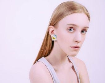 Grass wood earrings