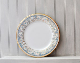 Fine China - Noritake - Polonaise 2045 - Salad Plate - Blue and Gold Pattern -