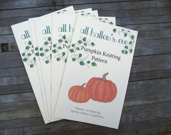 Zine-- All Hallow's Eve Pumpkin Knitting Pattern