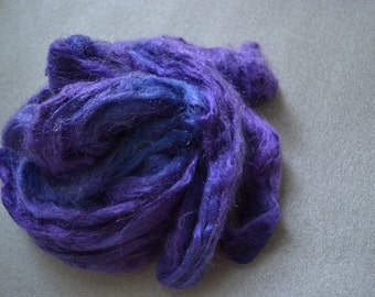 handdyed firestar, trilobal nylon sparkle fibre purple