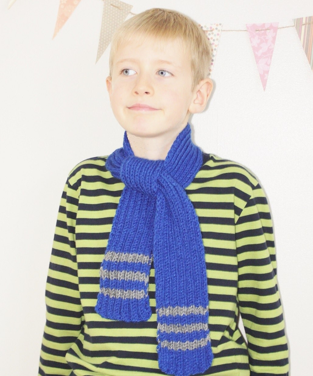 blue scarf children s scarf boys scarf children s by